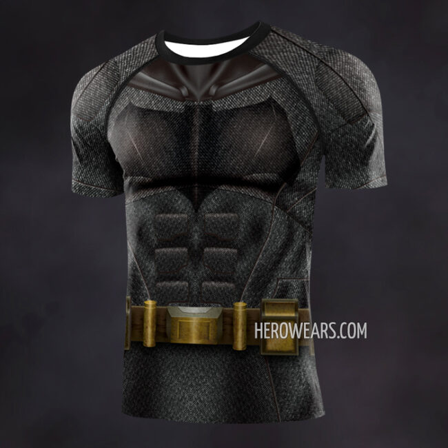 Batman Justice League Compression Shirt Rash Guard