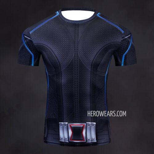 Black Widow Compression Shirt Rashguard
