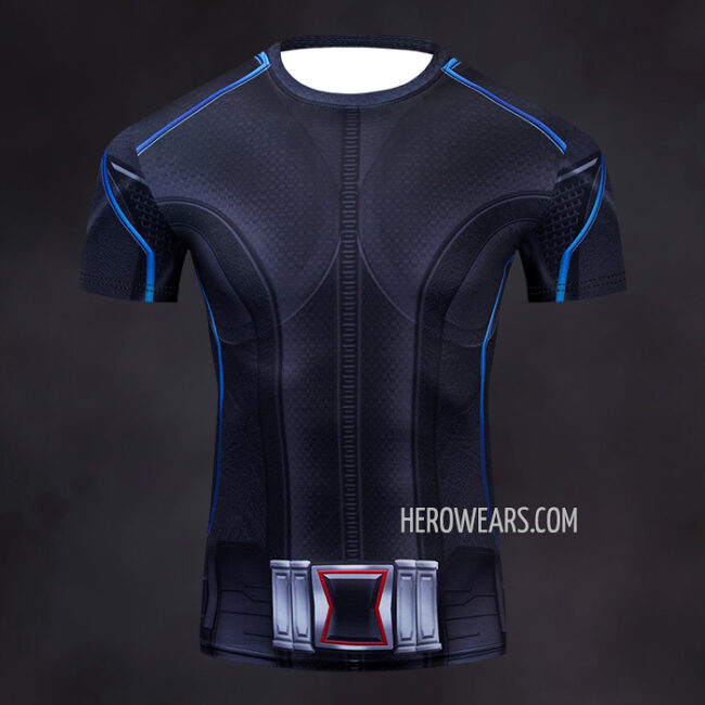 Black Widow Compression Shirt Rashguard