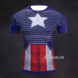 Captain America Scale Compression Shirt Rashguard