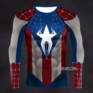 Captain Spider Compression Shirt Rash Guard