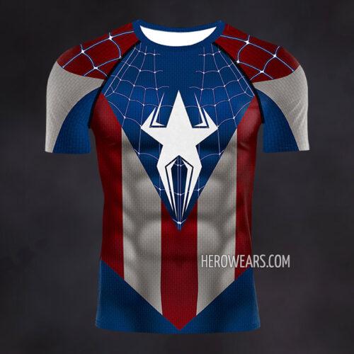 Captain Spider Compression Shirt Rash Guard