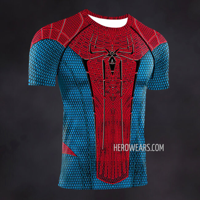 Amazing Spiderman Compression Shirt Rash Guard