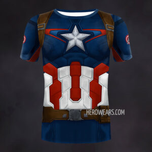 Captain America Age of Ultron Compression Shirt Rash Guard