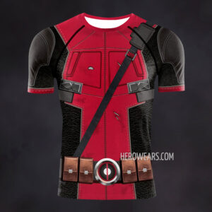 Deadpool Compression Shirt Rash Guard
