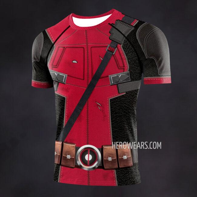 Deadpool Compression Shirt Rash Guard