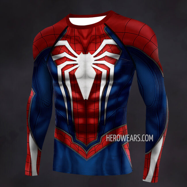 Spiderman PS4 Insomniac Compression Shirt Rash Guard