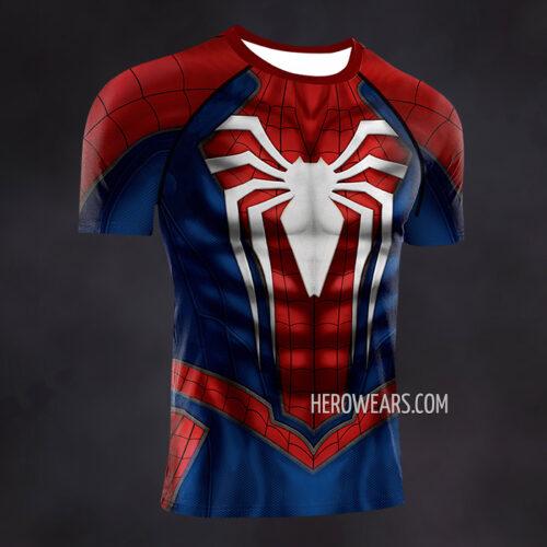 Spiderman PS4 Insomniac Compression Shirt Rash Guard