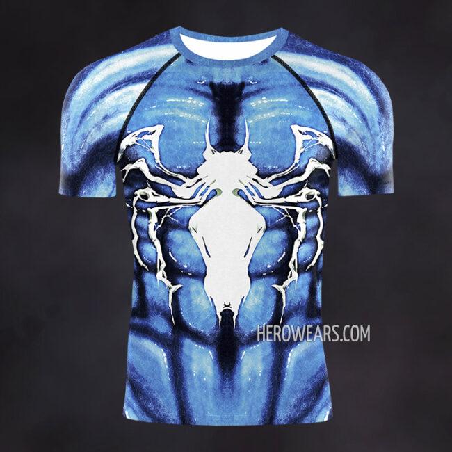 Venom Blue Compression Shirt Rashguard