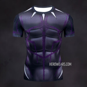 Black Panther Kinetic Compression Shirt Rash Guard