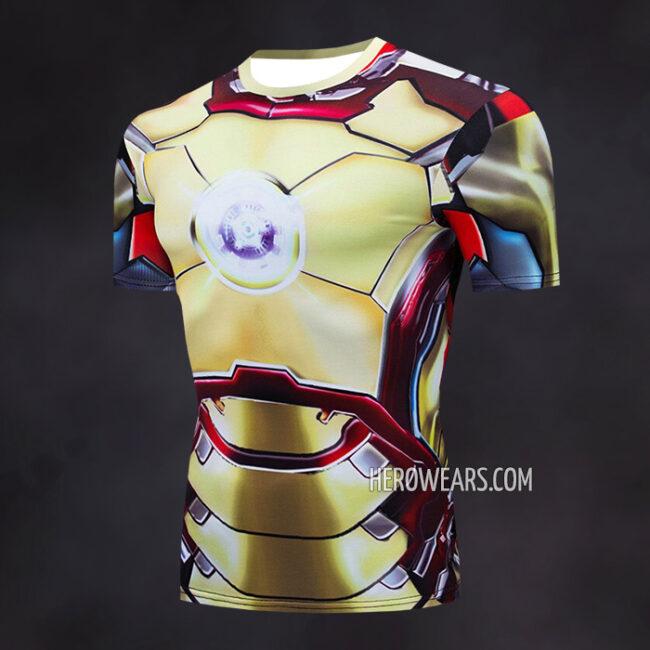Iron Man Mk42 Compression Shirt Rash Guard