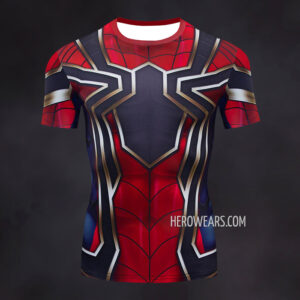 Iron Spider Compression Shirt Rashguard Short Sleeve