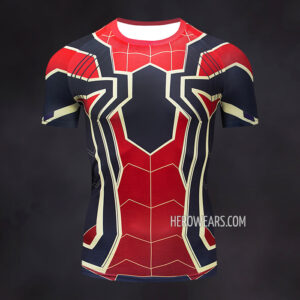 Iron Spider Compression Shirt Rash Guard Short Sleeve