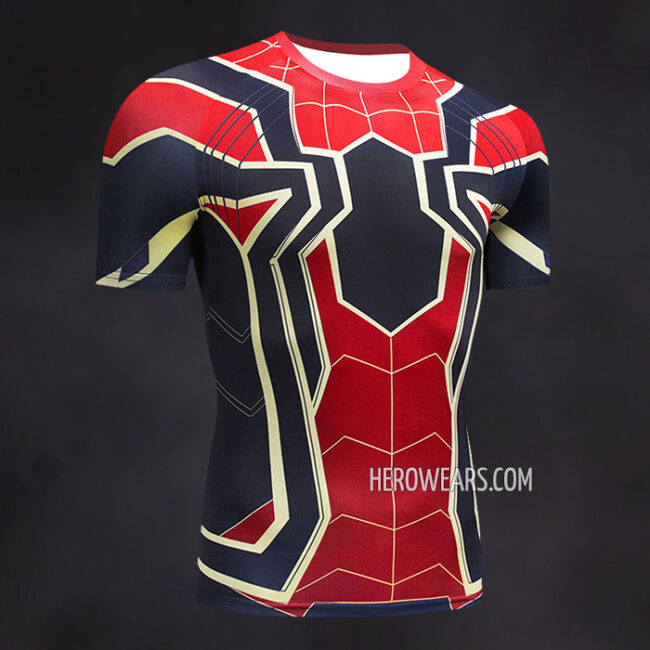Iron Spider Compression Shirt Rash Guard Short Sleeve