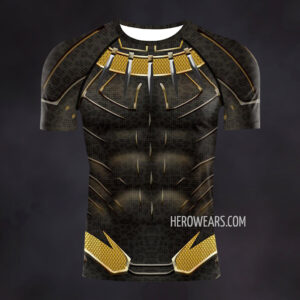 Black Panther Golden Jaguar Compression Shirt Rash Guard