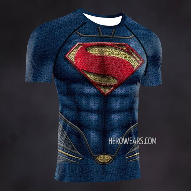 Superman Man of Steel Compression Shirt Rash Guard