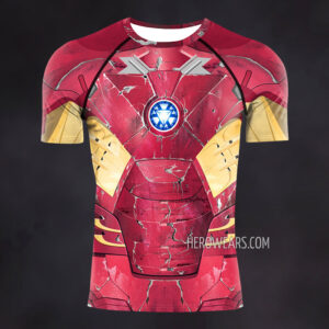 Iron Man Mk7 Compression Shirt Rash Guard