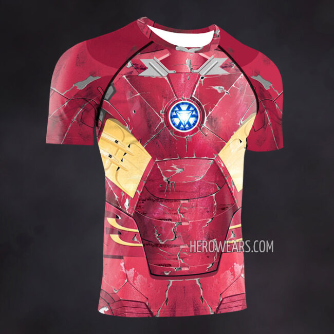 Iron Man Mk7 Compression Shirt Rash Guard
