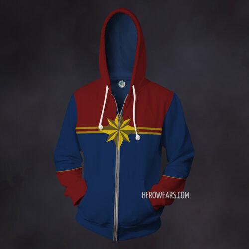 Captain Marvel Zip Up Hoodie
