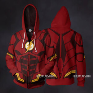 Flash Justice League Zip Up Hoodie