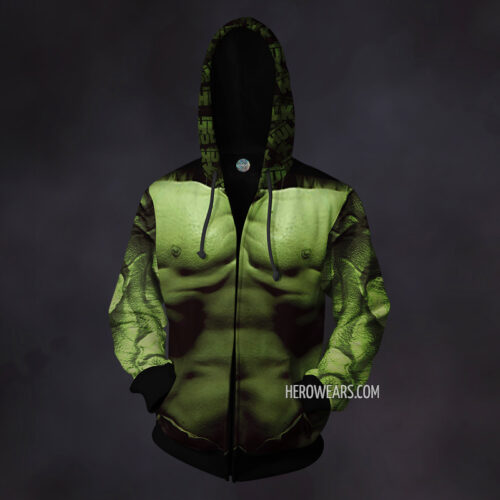Hulk Zip Up Hoodie