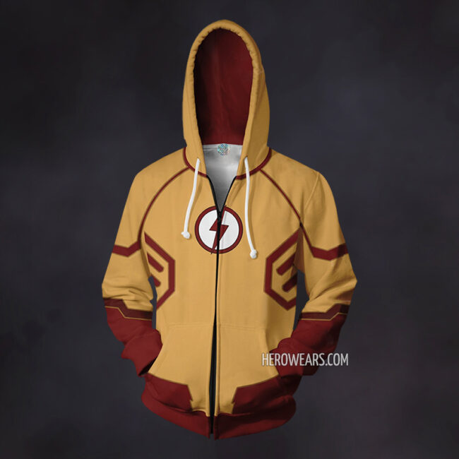 Kid Flash Zip Up Hoodie