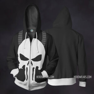 Punisher Zip Up Hoodie