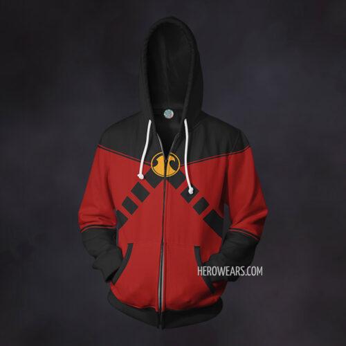 Red Robin Tim Drake Zip Up Hoodie