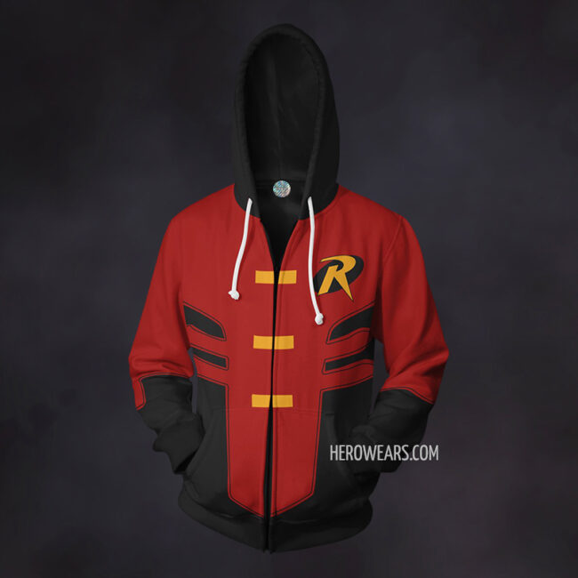 Robin Tim Drake Zip Up Hoodie