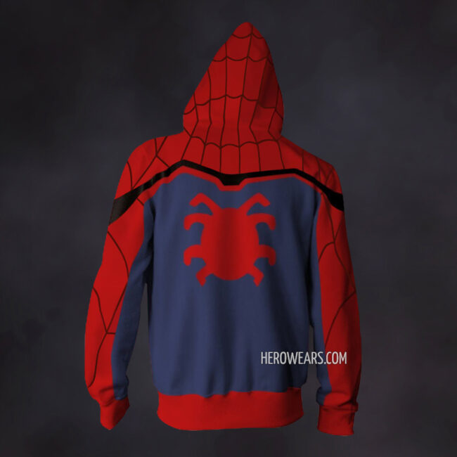 Spider Man Homecoming Zip Up Hoodie