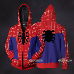 Spider Man Into The Spider Verse Zip Up Hoodie