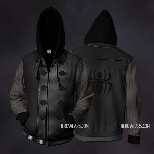 Spider Man Noir Zip Up Hoodie
