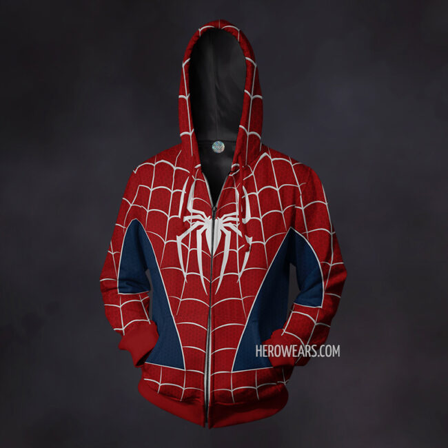 Spiderman Webbed Zip Up Hoodie