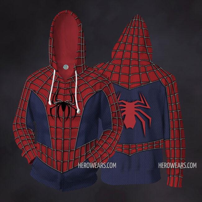 Spider Man Zip Up Hoodie