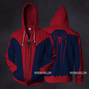 Amazing Spider Man Zip Up Hoodie