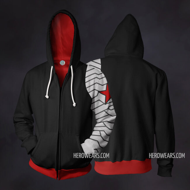 Winter Soldier Zip Up Hoodie