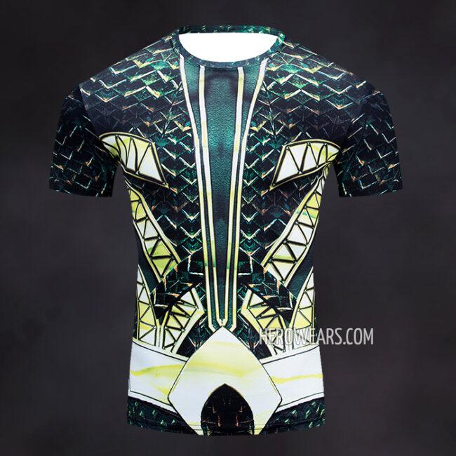 Aquaman Rash Guard Compression Shirt