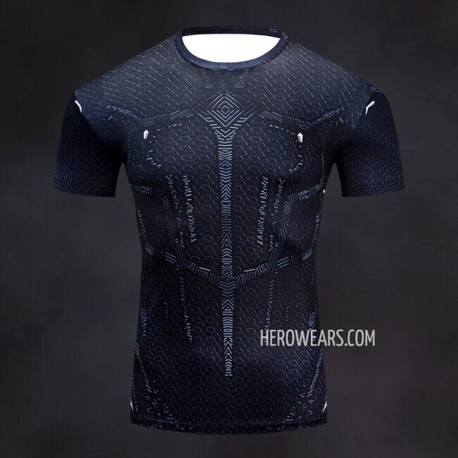 Black Panther Rash Guard Compression Shirt