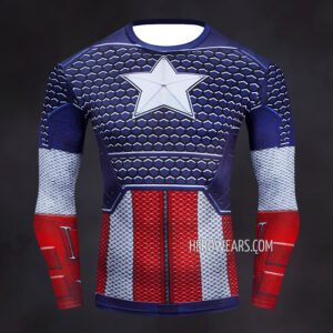 Captain America Scale Compression Shirt Rashguard
