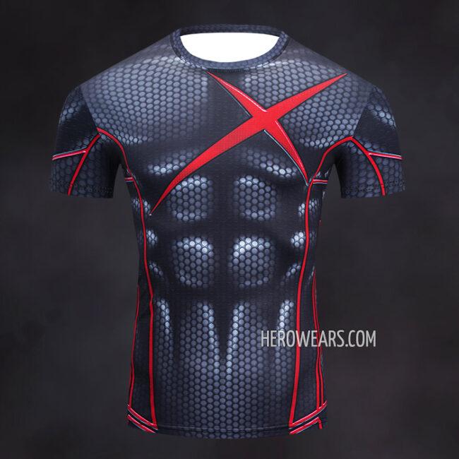 Robin Red X Rash Guard Compression Shirt