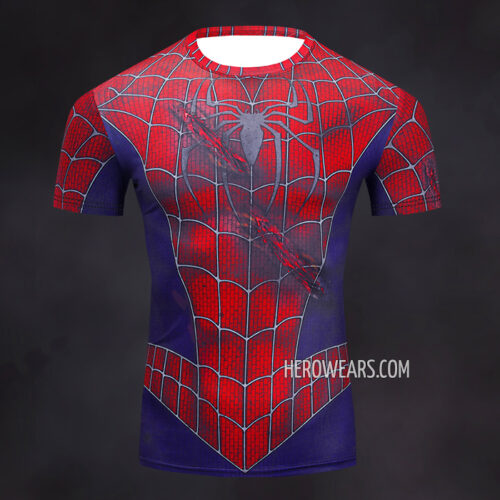 Spiderman Rash Guard Compression Shirt