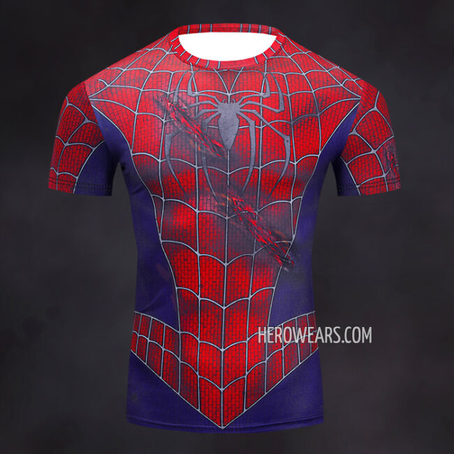 Spiderman Rash Guard Compression Shirt