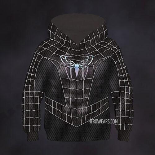Kid's Spider Man Black Hoodie