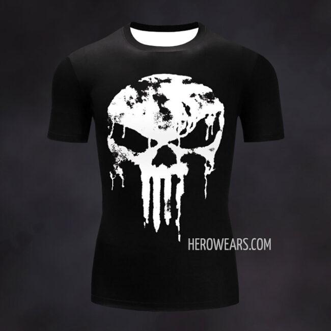 Punisher Compression Shirt Rash Guard