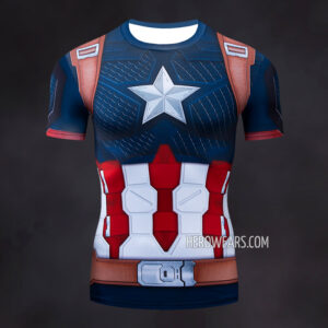Captain America Scale Compression Shirt Rash Guard