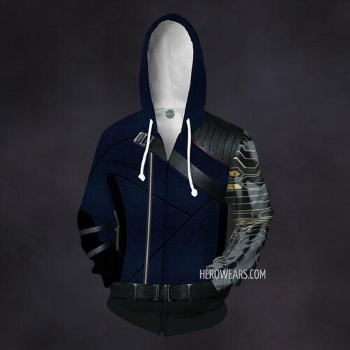 Winter Soldier Zip Up Hoodie