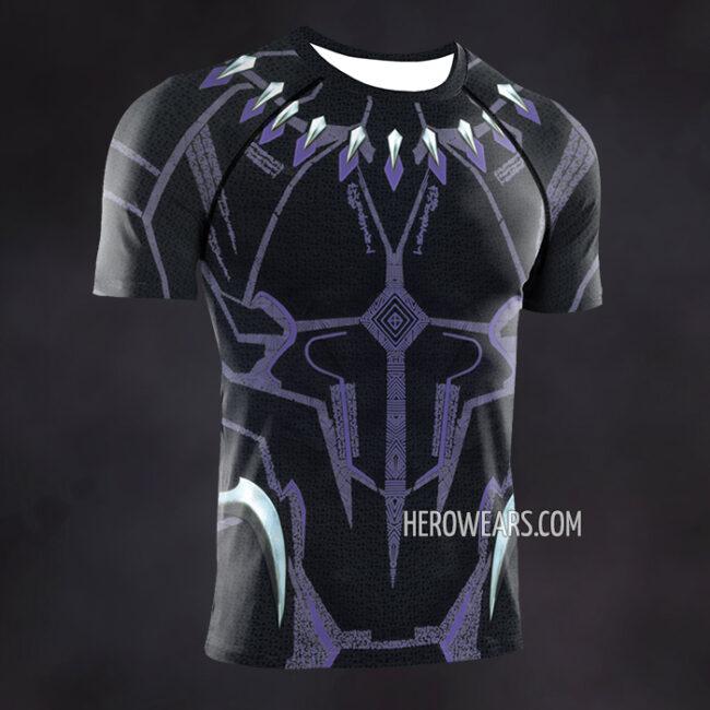 Black Panther Kinetic Compression Shirt Rash Guard