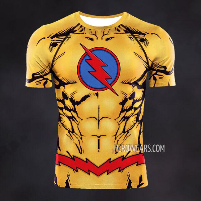 Reverse Flash Compression Shirt Rash Guard