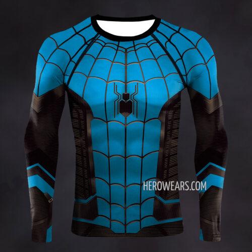 Spider Man Blue Suit Compression Shirt Rash Guard