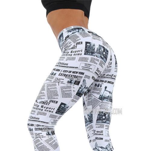 Women's Newspaper Leggings